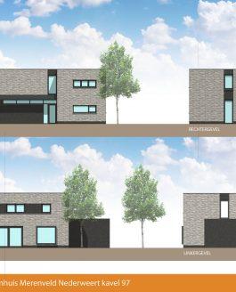 Nieuw ontwerp nieuwbouw woning Merenveld Nederweert